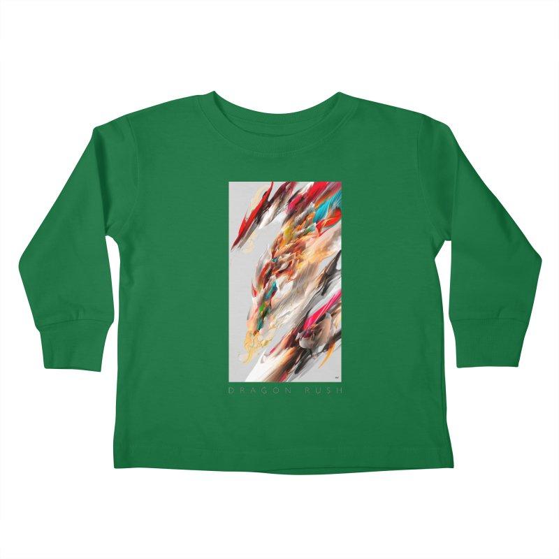 DRAGON RUSH Kids Toddler Longsleeve T-Shirt by mu's Artist Shop