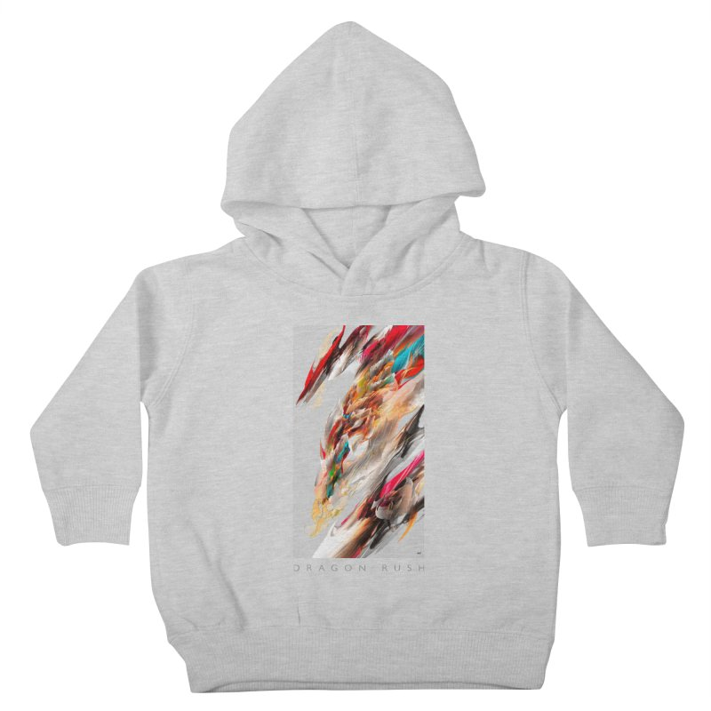 DRAGON RUSH Kids Toddler Pullover Hoody by mu's Artist Shop