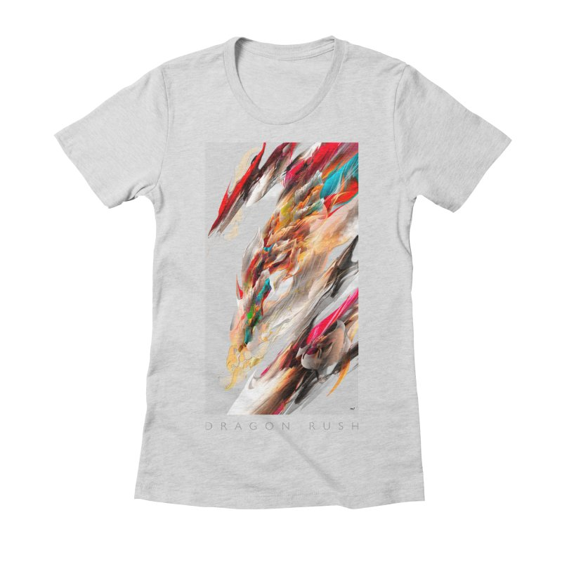 DRAGON RUSH Women's Fitted T-Shirt by mu's Artist Shop
