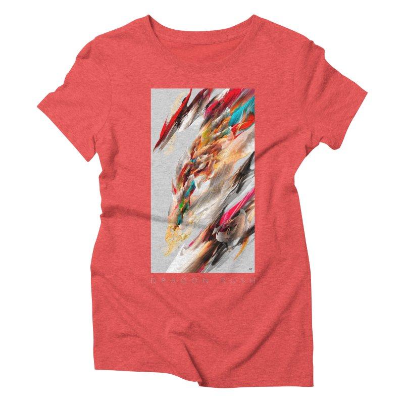 DRAGON RUSH Women's Triblend T-Shirt by mu's Artist Shop