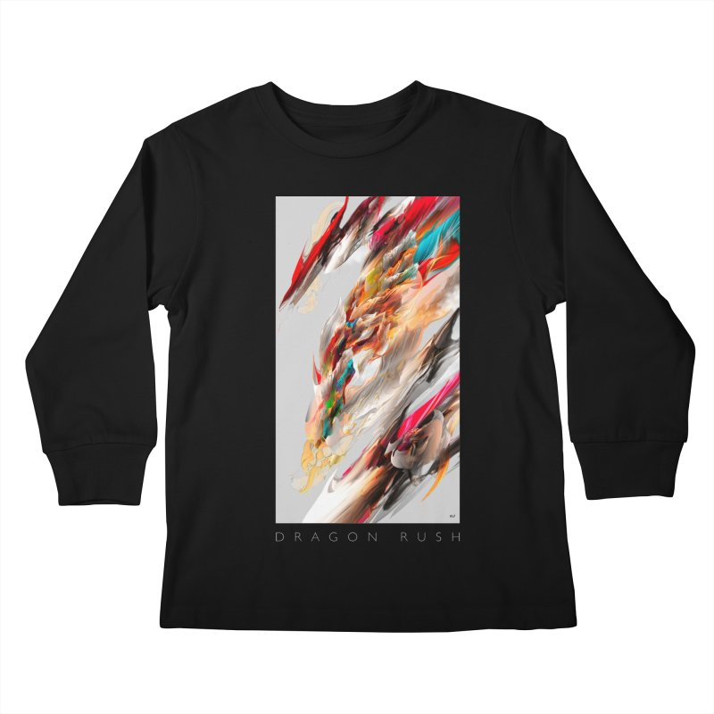 DRAGON RUSH Kids Longsleeve T-Shirt by mu's Artist Shop