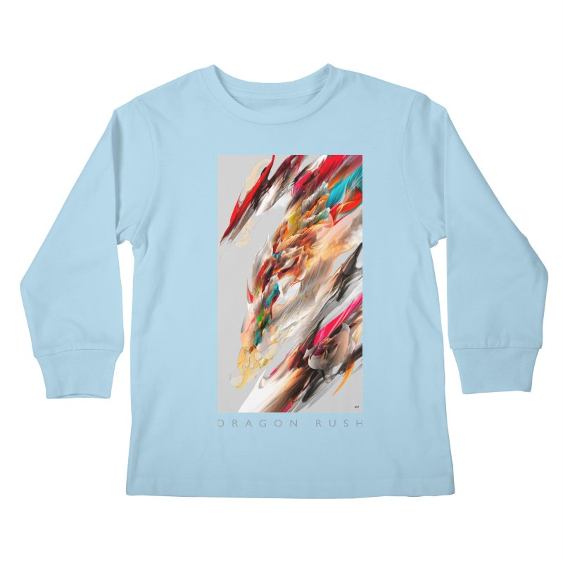 DRAGON RUSH Kids Longsleeve T-Shirt by mu's Artist Shop