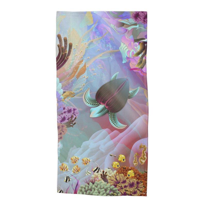 SEAFLOWER REEFS Accessories Beach Towel by mu's Artist Shop