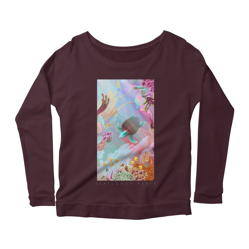 SEAFLOWER REEFS Women's Longsleeve Scoopneck  by mu's Artist Shop