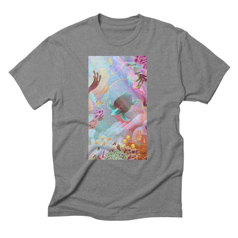 SEAFLOWER REEFS Men's Triblend T-Shirt by mu's Artist Shop