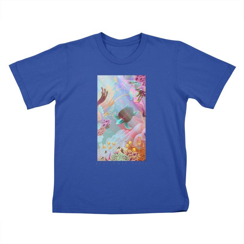 SEAFLOWER REEFS Kids T-Shirt by mu's Artist Shop