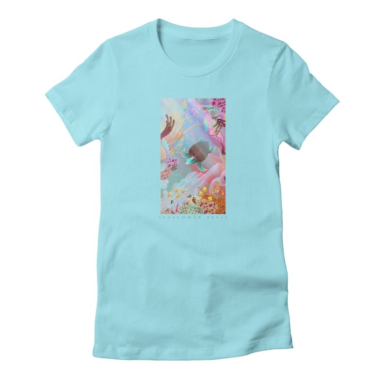 SEAFLOWER REEFS in Women's Fitted T-Shirt Cancun by mu's Artist Shop