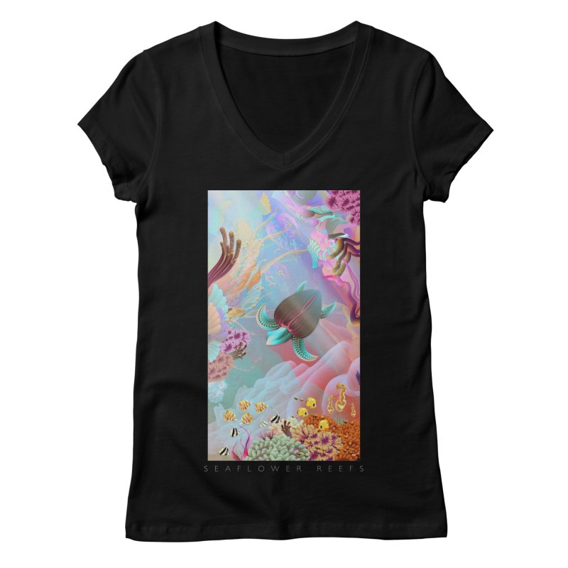 SEAFLOWER REEFS Women's V-Neck by mu's Artist Shop