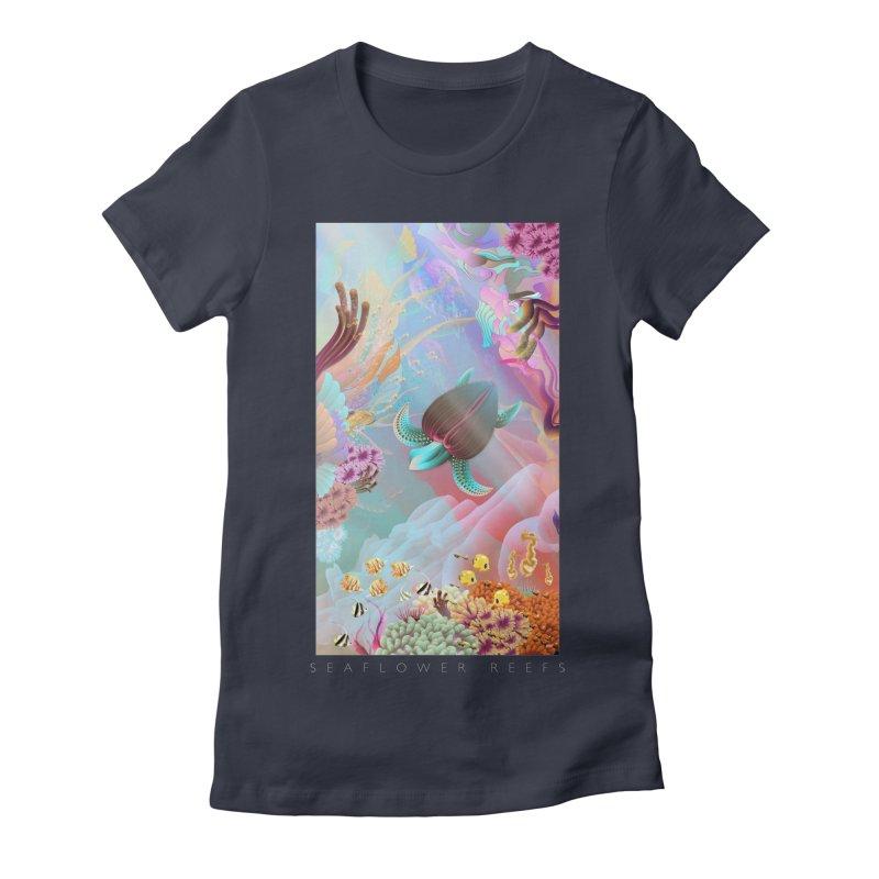 SEAFLOWER REEFS Women's Fitted T-Shirt by mu's Artist Shop