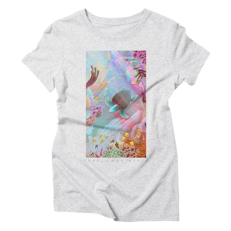 SEAFLOWER REEFS Women's Triblend T-Shirt by mu's Artist Shop