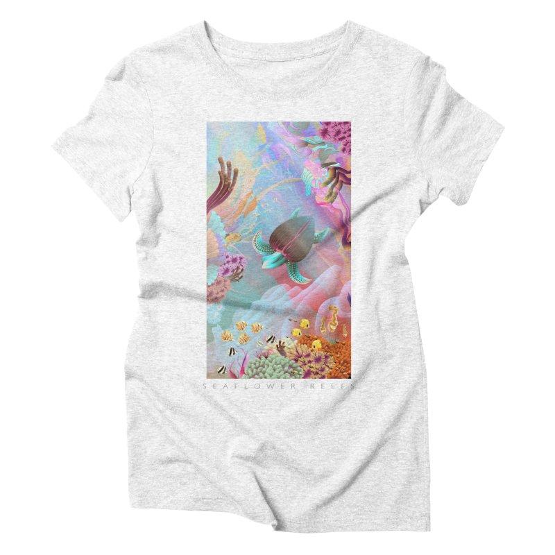 SEAFLOWER REEFS in Women's Triblend T-shirt Heather White by mu's Artist Shop