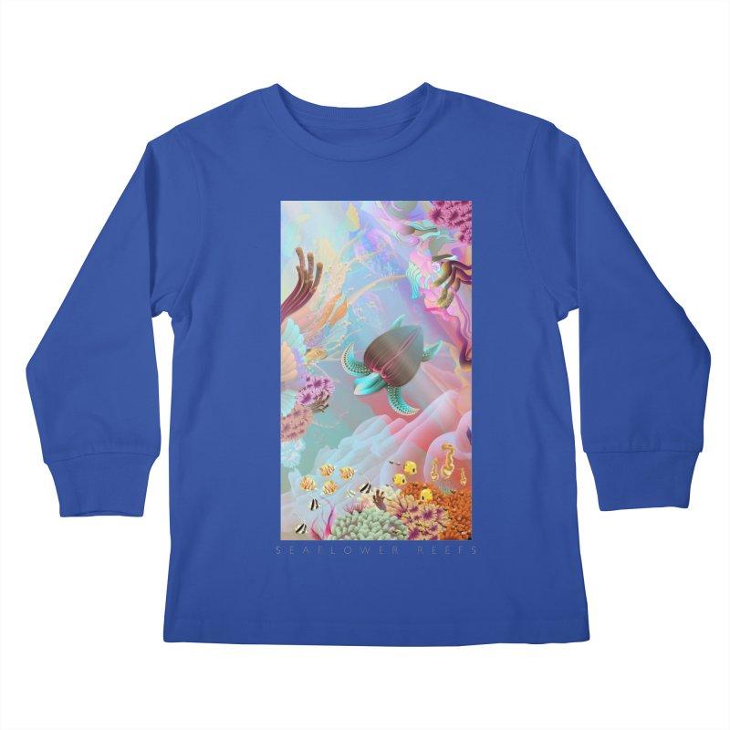 SEAFLOWER REEFS Kids Longsleeve T-Shirt by mu's Artist Shop