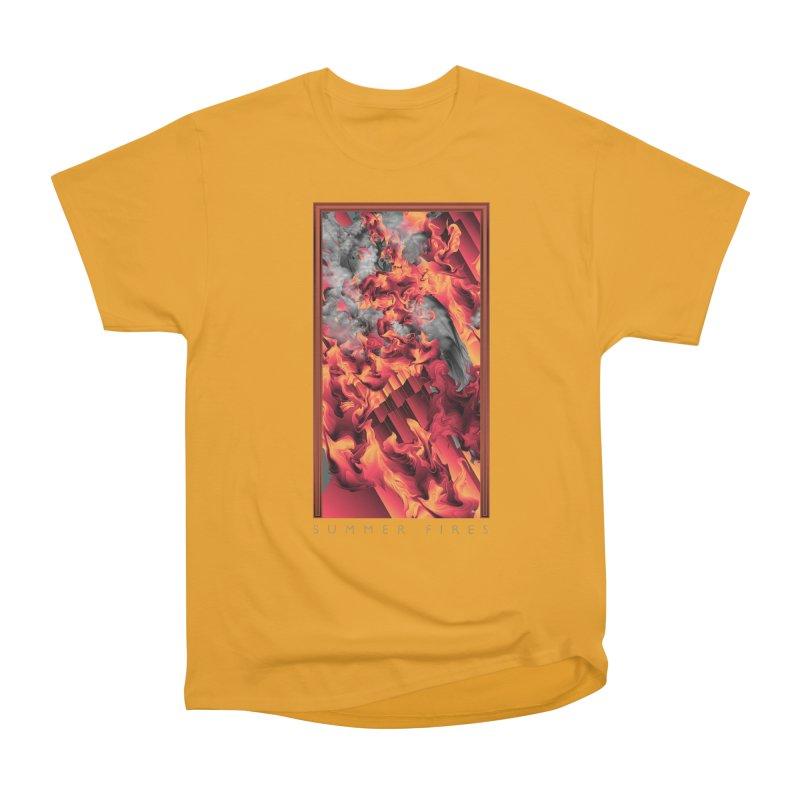 SUMMER FIRES Women's Heavyweight Unisex T-Shirt by mu's Artist Shop