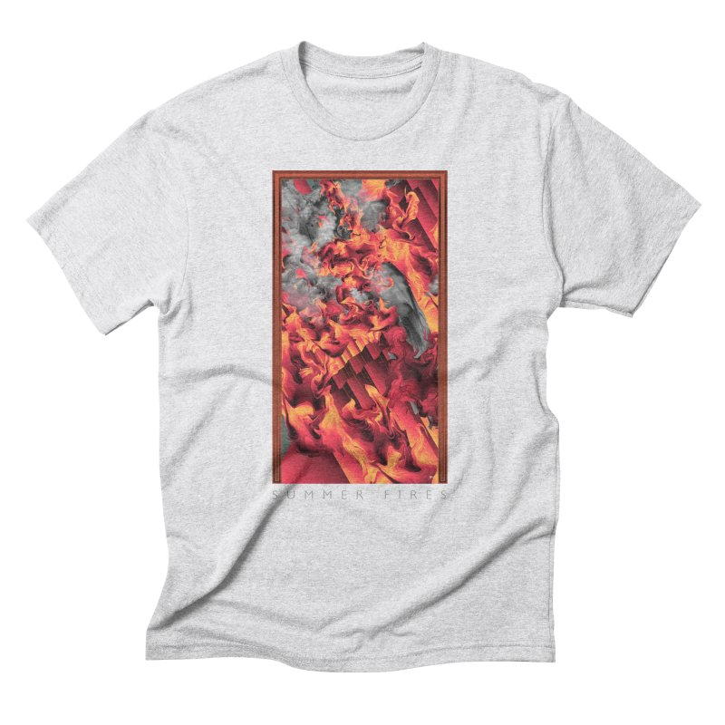 SUMMER FIRES Men's Triblend T-Shirt by mu's Artist Shop