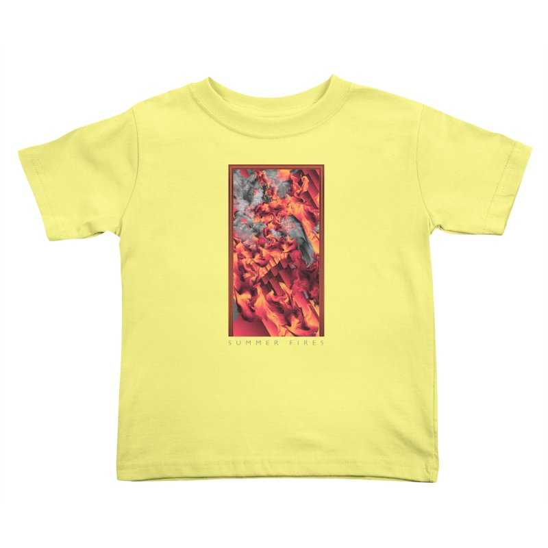 SUMMER FIRES Kids Toddler T-Shirt by mu's Artist Shop