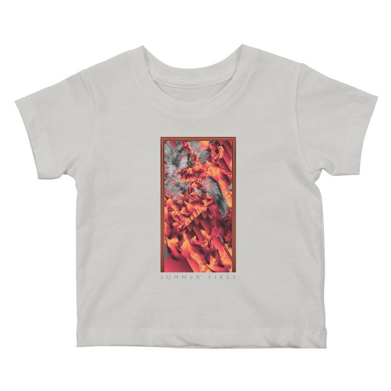 SUMMER FIRES Kids Baby T-Shirt by mu's Artist Shop