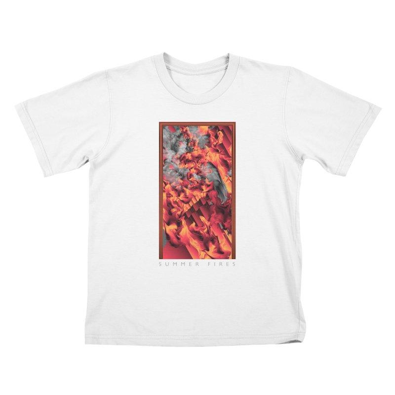 SUMMER FIRES Kids T-Shirt by mu's Artist Shop