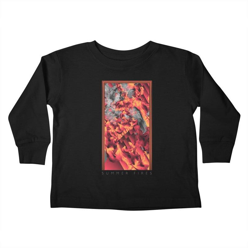 SUMMER FIRES Kids Toddler Longsleeve T-Shirt by mu's Artist Shop