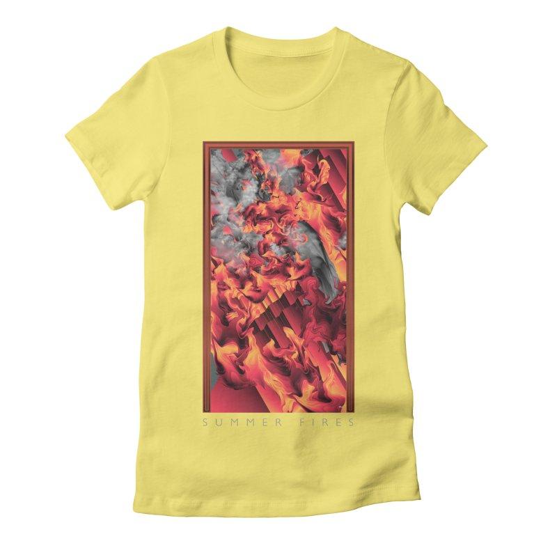 SUMMER FIRES Women's Fitted T-Shirt by mu's Artist Shop