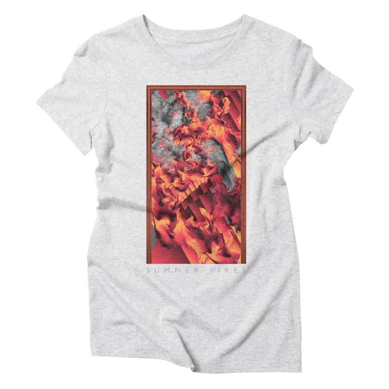 SUMMER FIRES Women's Triblend T-Shirt by mu's Artist Shop