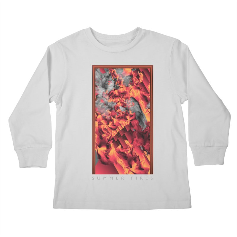 SUMMER FIRES Kids Longsleeve T-Shirt by mu's Artist Shop