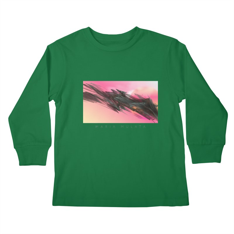MARIA MULATA Kids Longsleeve T-Shirt by mu's Artist Shop