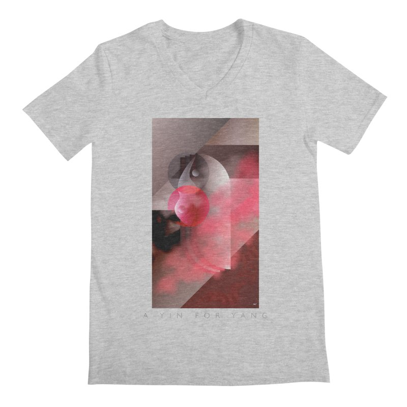 A YIN FOR YANG Men's V-Neck by mu's Artist Shop
