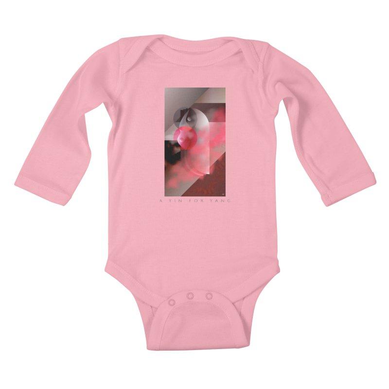 A YIN FOR YANG Kids Baby Longsleeve Bodysuit by mu's Artist Shop