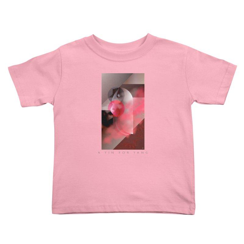 A YIN FOR YANG Kids Toddler T-Shirt by mu's Artist Shop