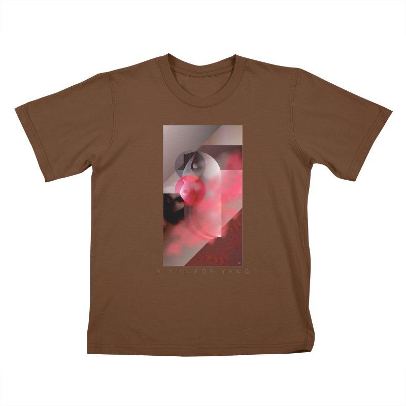 A YIN FOR YANG Kids T-Shirt by mu's Artist Shop