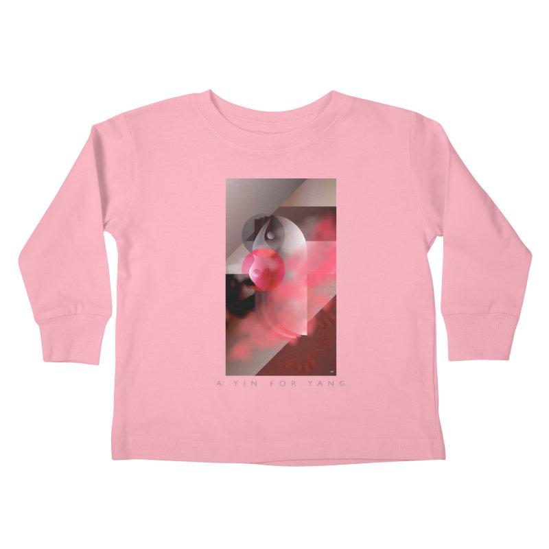 A YIN FOR YANG Kids Toddler Longsleeve T-Shirt by mu's Artist Shop