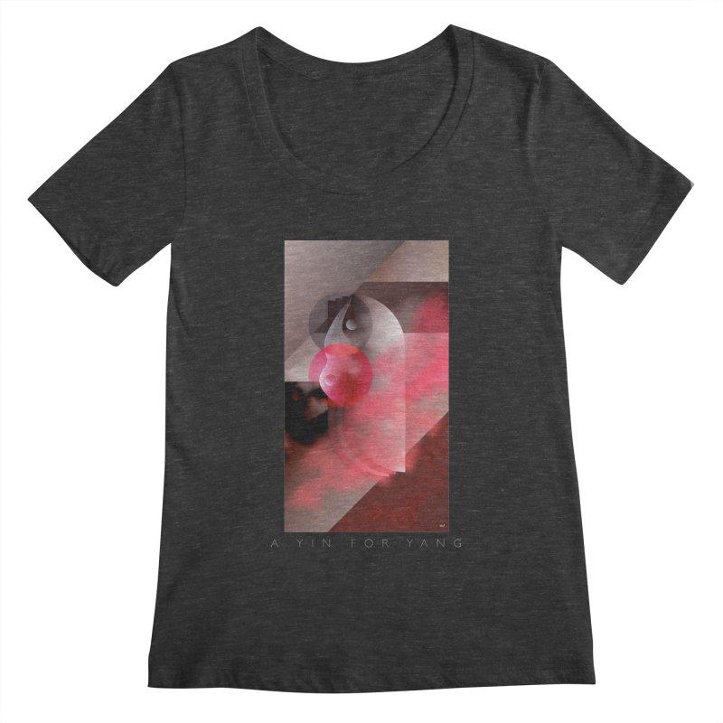 A YIN FOR YANG Women's Scoopneck by mu's Artist Shop