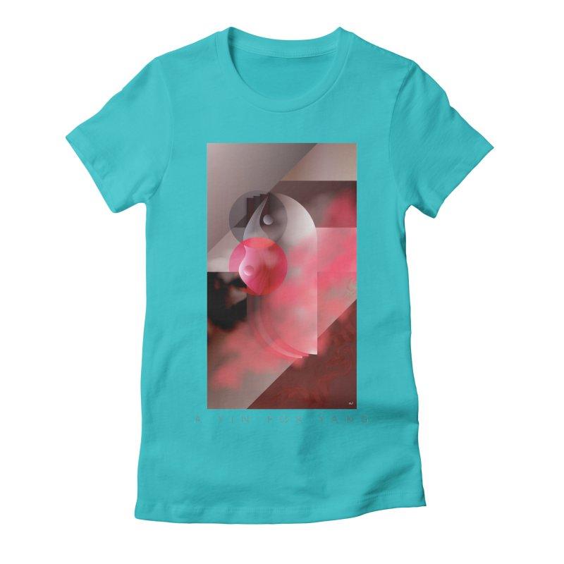 A YIN FOR YANG Women's Fitted T-Shirt by mu's Artist Shop