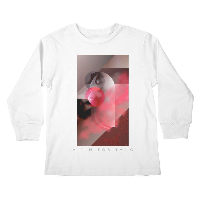A YIN FOR YANG Kids Longsleeve T-Shirt by mu's Artist Shop