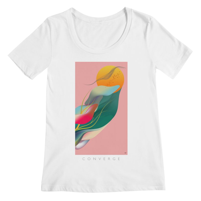 CONVERGE Women's Scoopneck by mu's Artist Shop