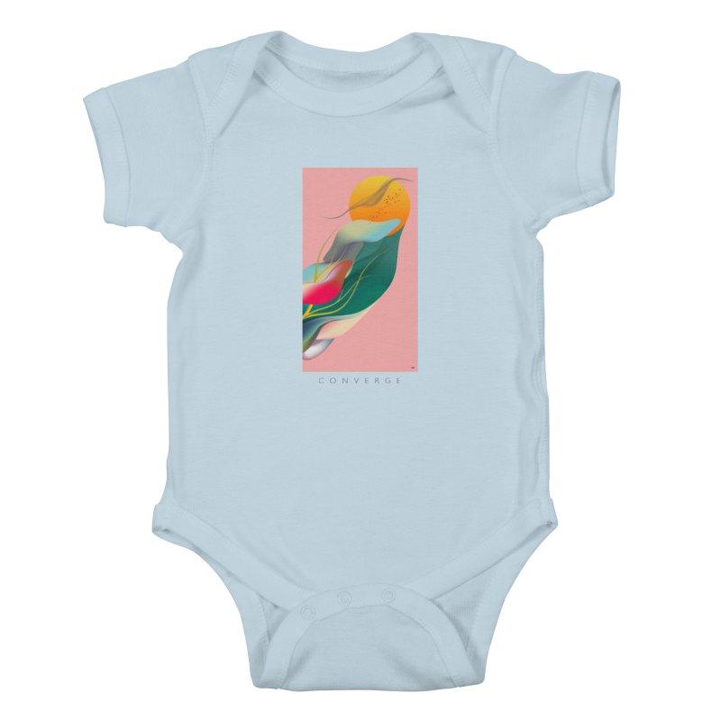 CONVERGE Kids Baby Bodysuit by mu's Artist Shop