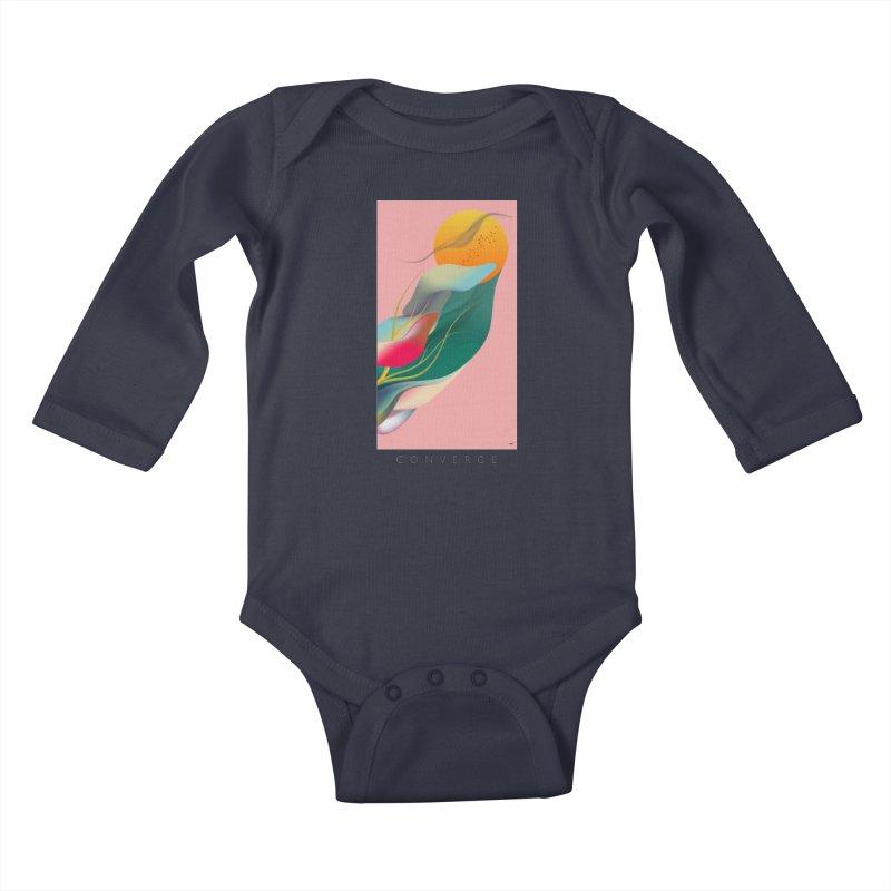 CONVERGE Kids Baby Longsleeve Bodysuit by mu's Artist Shop