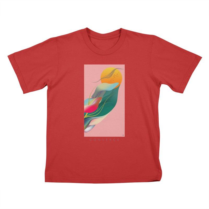 CONVERGE Kids T-Shirt by mu's Artist Shop