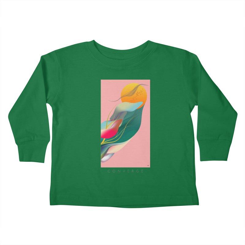 CONVERGE Kids Toddler Longsleeve T-Shirt by mu's Artist Shop