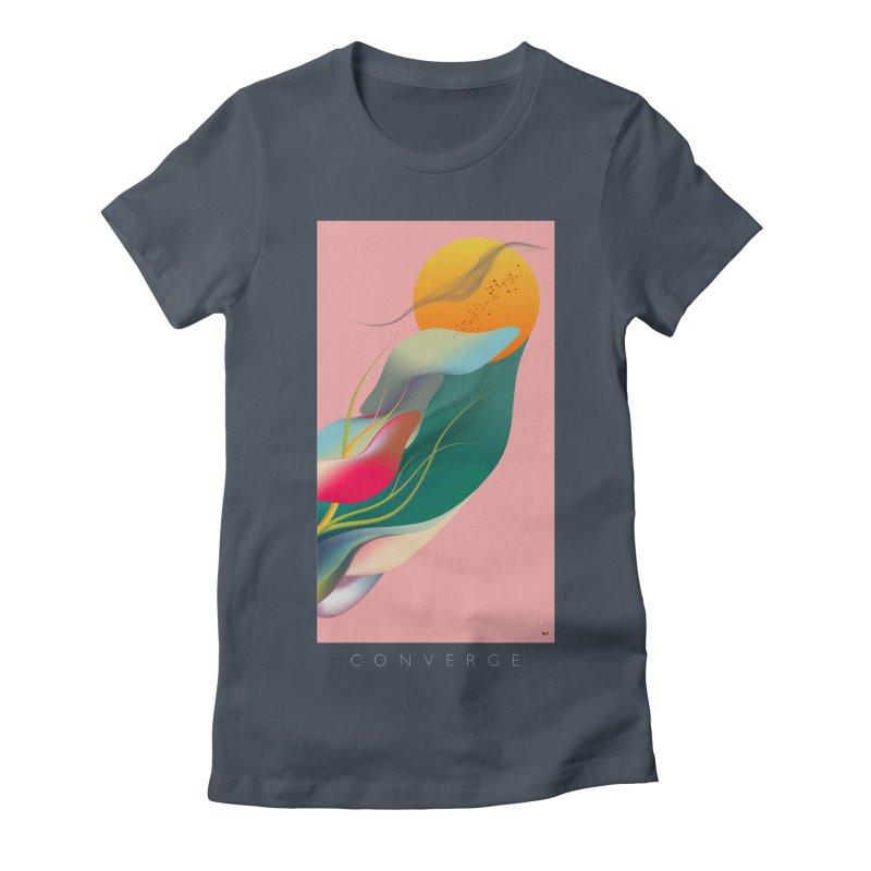 CONVERGE Women's Fitted T-Shirt by mu's Artist Shop