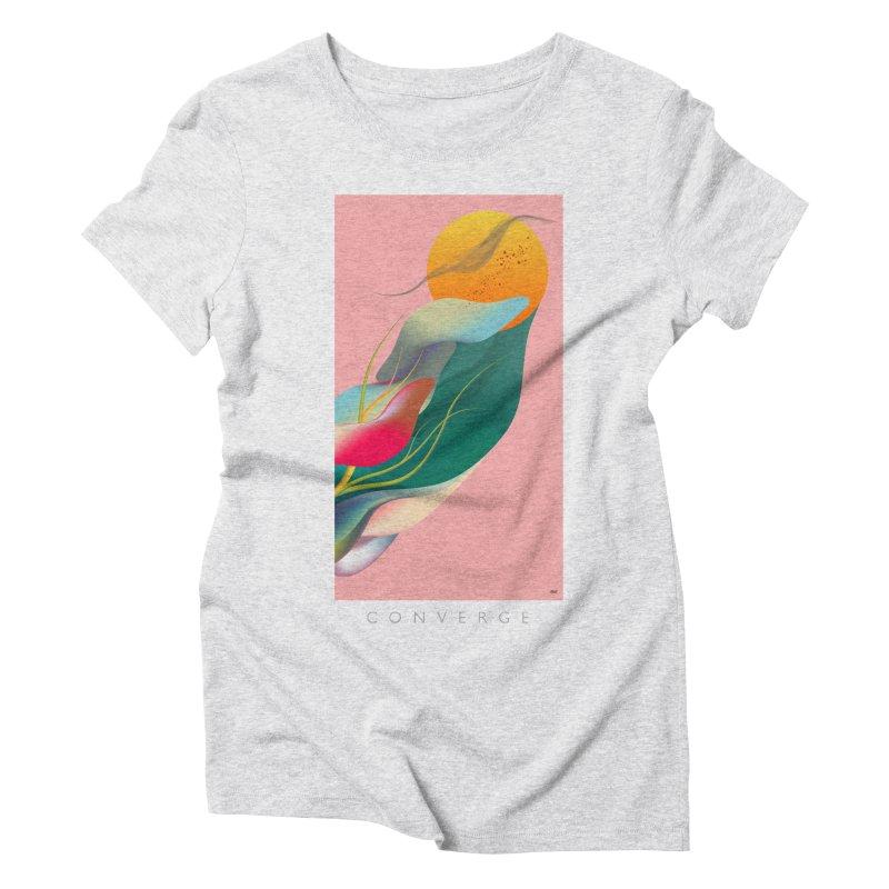 CONVERGE Women's Triblend T-Shirt by mu's Artist Shop