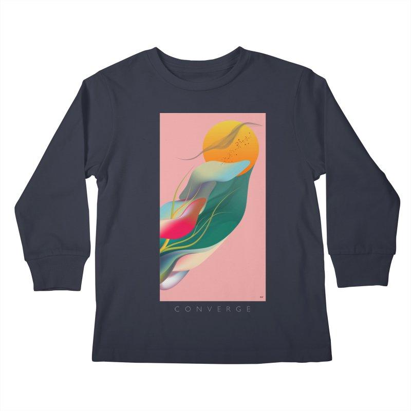 CONVERGE Kids Longsleeve T-Shirt by mu's Artist Shop