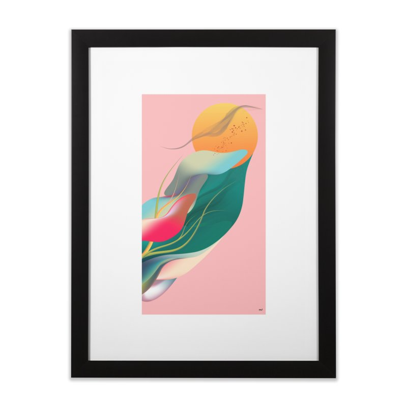 CONVERGE in Framed Fine Art Print Black by mu's Artist Shop