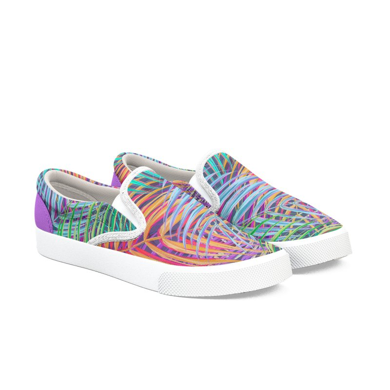 WAX PALMS Women's Slip-On Shoes by mu's Artist Shop