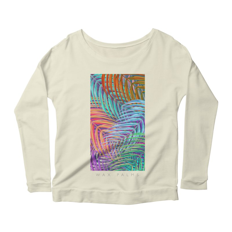 WAX PALMS Women's Longsleeve Scoopneck  by mu's Artist Shop