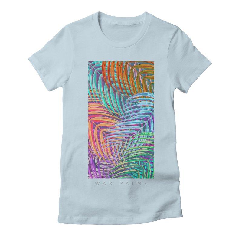 WAX PALMS Women's Fitted T-Shirt by mu's Artist Shop