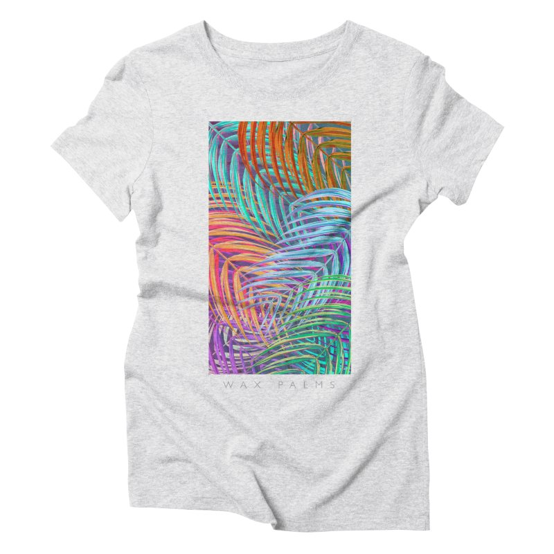 WAX PALMS in Women's Triblend T-Shirt Heather White by mu's Artist Shop