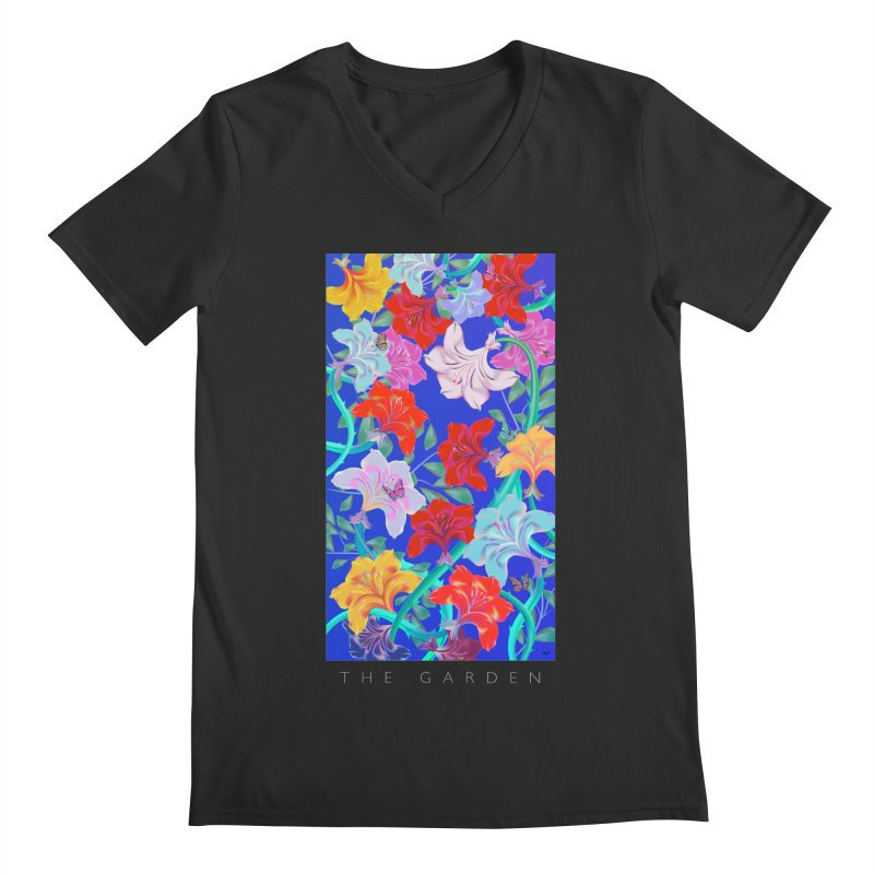 THE GARDEN Men's Regular V-Neck by mu's Artist Shop