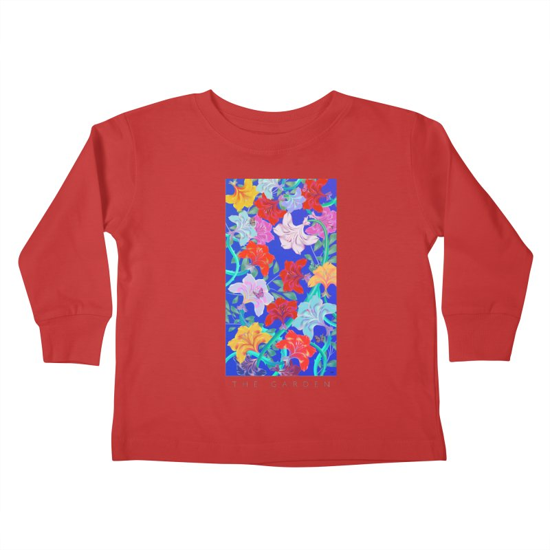 THE GARDEN Kids Toddler Longsleeve T-Shirt by mu's Artist Shop
