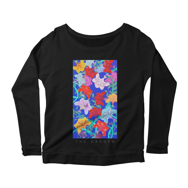 THE GARDEN Women's Scoop Neck Longsleeve T-Shirt by mu's Artist Shop